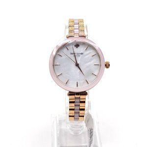 Kate Spade New York Pink Rose-Gold Tone Bracelet Watch